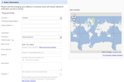 Claim your Google Places listing