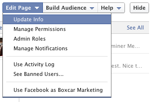 how to change you commercial facebook page name